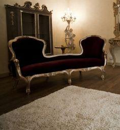 Venetian Louis XVII chaise longue