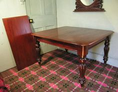 Antique 19th Century Mahogany Extending Dining Table HUTCHISONANTIQUES.COM