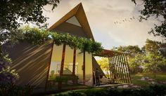 Tropis house design by ibnu sina abdillah  disain rumah ini didasari dengan iklim tropis yang ada di Indonesia. yang membuat arsitektur harus memikirkan bangunan yang bisa mengatasi iklim yang berada di Indonesia.