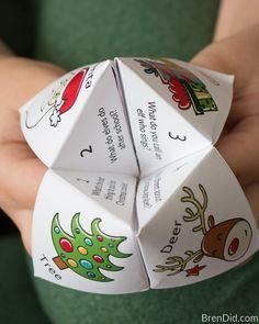 Christmas Joke Teller fortune teller numbers