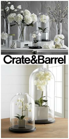 These would look great on my mantel! I love all the white flowers with the glass. So classy. Living Room Decor Tv, Sitting Room Decor, Tv Decor, Bedroom Decor, Home Decor, Family Room Decorating, Farmhouse Style Decorating, Interior Decorating, Dream Master Bedroom