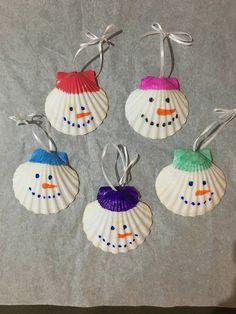 Christmas scallop shell ornaments | Etsy Christmas Crafts For Kids, Christmas Art, Holiday Crafts, Christmas Decorations, Etsy Christmas, Christmas Island, Hallmark Christmas, Christmas Gnome, Handmade Christmas Crafts