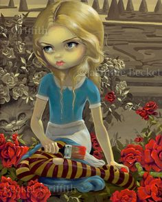 Painting the Roses Red by Jasmine Becket-Griffith Alice in Wonderland