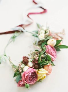 A boho flower crown