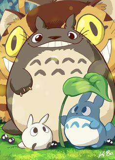 Totoro - chibi characters print