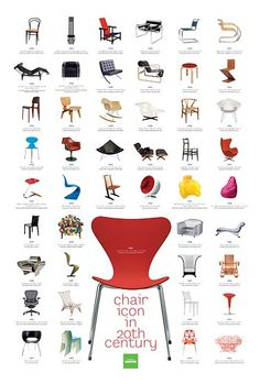 20세기 의자 아이콘 이미지 1