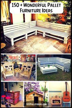 Wooden Pallet Furniture Ideas