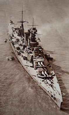 HMS Hood by chris-parker, via Flickr   The mighty Hood sent to the bottom by the Bismark from 15 miles away!