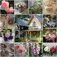 My Romantic Home: Your questions answered, part three Victoria Magazine, Green Hydrangea, Beautiful Collage, Romantic Homes, Breakfast In Bed, Cottage Living, Flower Centerpieces, Pretty Little, Pink And Green