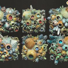 Ceramic wall tiles inspired by coral reef by Artist Diane Martin Lublinski. Ceramic Wall Art, Ceramic Clay, Tile Art, Ceramic Pottery, Ceramic Teapots, Ceramics Projects, Clay Projects, Wall Sculptures, Sculpture Art