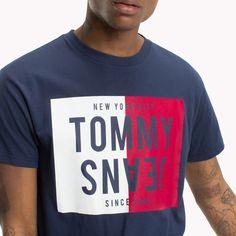 67ee481b117b Tommy Hilfiger Reverse Logo T-Shirt - Black Iris L Hang Ten