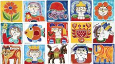 Ceramiche De Simone amazing patchwork tiles - folk collection - A beautiful gift for wedding!