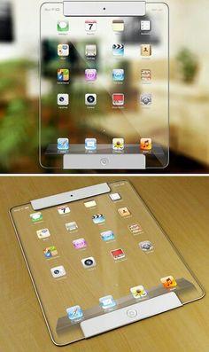 Koncept průhledného iPadu