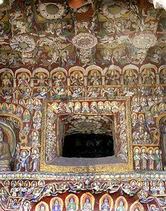 Yungang Grottoes - Buddist cave carvings - China