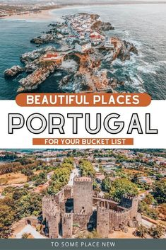 Get the guide to Portugal places to visit. Portugal travel guide. Portugal travel tips. Portugal travel Lisbon Aveiro Porto Leiria Évora Madeira Island Fatima and more. Portugal bucket list. Portugal things to see. Portugal travel photography beautiful places. Discover tips and Where to go in Portugal. Portugal guide. Portugal destinations. Portugal travel itinerary Portugal Destinations, Portugal Places To Visit, Portugal Vacation, Portugal Travel Guide, Top Travel Destinations, Europe Travel Guide, France Travel, Day Trips From Lisbon, Most Beautiful Cities