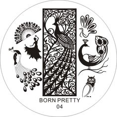Lovely stamping plate for nail art! Use my code ANGELIQUEC10 to save 10% @BornPrettyStore, Dancing Peacoak Theme  Nail Art Stamp Templat... at $2.99. http://www.bornprettystore.com/-p-16851.html