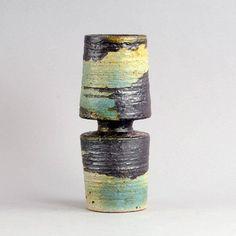 Unique Stoneware Vase by Annikki Hovisaari for Arabia, Finland, 1960s 2