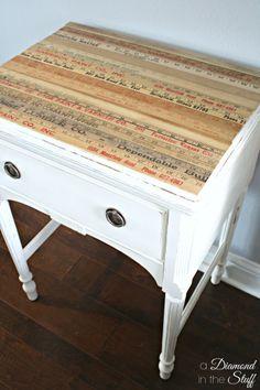 Yard Stick Sewing Table @ A Diamond in the Stuff
