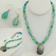 Check out this item in my Etsy shop https://www.etsy.com/listing/521503843/fun-springy-blue-and-green-necklace-with
