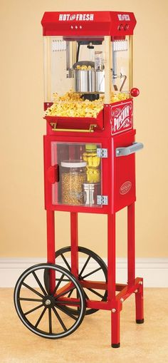 Vintage Collection Popcorn Cart Machine Popper Style Stand Old Theater Home Pop #NostalgiaElectrics