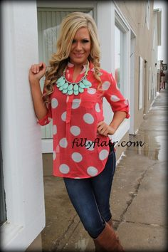 (http://www.fillyflair.com/my-polka-ways-coral-blouse/)