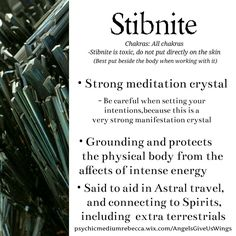 Stibnite crystal meaning