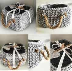 Best 10 how to crochet a sturdy basket. Tips and tricks to help you pick out the… Best 10 how to crochet a sturdy basket. Tips and tricks to help you pick out the right yarn and hook. Crochet Motifs, Crochet Quilt, Knit Crochet, Crochet Patterns, Crochet Home Decor, Crochet Crafts, Crochet Projects, Diy Crochet Basket, Crochet Basket Pattern