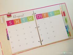 make month at a glance like this Get Organized - How to Setup your PDCD Planner - Pretty Darn Cute Design