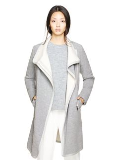 """Slick and minimal - an Italian wool coat for the cold-weather months"" Babaton CORMAC COAT 