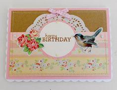 Shabby Chic Birthday Card £2.50