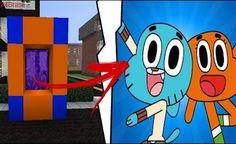 Minecraft: COMO FAZER UM PORTAL PARA O MUNDO DO GUMBALL E DARWIN !! Minecraft Portal, Minecraft Mods, Minecraft Stuff, Minecraft Houses, Minecraft Crafting Recipes, Minecraft Bedroom, Acer, Stupid, Crafts For Kids