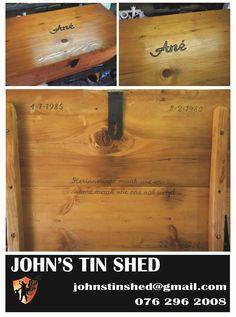 Engraving on a memory chest Tin Shed, How To Remove Rust, Plasma Cutting, Custom Woodworking, Butcher Block Cutting Board, Restoration, Gifts, Presents, Gifs