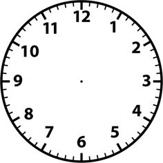 printable clock templates blank clockface without hands clock rh pinterest com Clock No Hands Clip Art Clock No Hands Clip Art