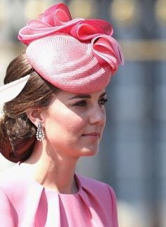 Kate opted for a hot pink ensemble for this year's Trooping the Colour celebrations and wore a hat by one of her favourite designers to the occasion.