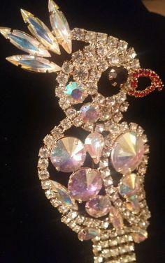 fc6d51ae0 High End Vintage Estate AB Rivoli Rhinestone Bird Brooch PIN Jewelry LOT L1…