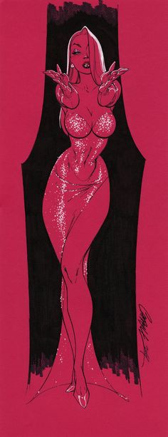 """""""J. Scott Campbell"""" - One of my fave artists. And, oh. It's Jessica Rabbit looking hotter than ever."""