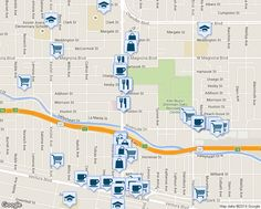 map of restaurants, bars, coffee shops, grocery stores, and more near 4920 Van Nuys Blvd in Los Angeles