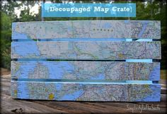 Grab you Mod Podge, and come see how-to Make a DIY Dollar Tree Magnetic Map Memo Board Tray with this Home Decor Organization Craft Tutorial! Map Crafts, Mod Podge Crafts, Decor Crafts, Map Projects, Auction Projects, Auction Ideas, Pallet Projects, Before And After Diy, Unique Maps