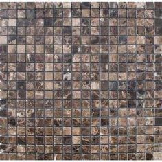 $9.45 psf--MS International Emperador Cafe 12 in. x 12 in. x 10 mm Tumbled Marble Mesh-Mounted Mosaic Tile-THDW1-SH-EMP5/8 - The Home Depot can't tell if brownish or greyish from other photos
