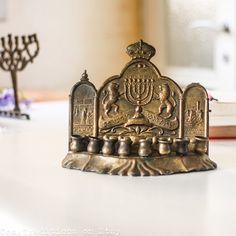 Brass Hanukkah Menorah Vintage Israeli Menorah by CozyTraditions, $19.00