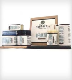 Southern Hospitality Gift Set; Set includes: Two Sweet Tea Foot Soaks, 4 oz Scrub, 4 oz Foot Cream, 2 oz Foot Powder, Heel Balm, Cuticle Salve, Foot File.
