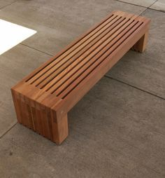 DIY Redwood Bench De