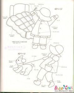 苏姑娘的一天 早中晚 图纸 - 拼布图谱 布流行手工网