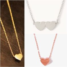 Which Dainty #Heart #Necklace is your favorite? Shop: www.psiloveyoumoreboutique.com
