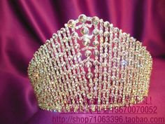 $135 Tiara AUSTRIAN Rhinestone Crystal Crown For Party Bridal Wedding AUSTRIAN Pageant Queen  Beauty Contest Pageant Prom Gift -in Hair Jewelry f...
