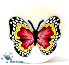 Polymer clay cane - butterfly | Flickr - Photo Sharing!