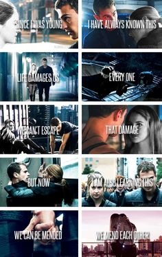 Divergent - Insurgent - Allegiant - Beatrice / Tris Prior - Shailene Woodley - Four / Tobias Eaton - Theo James - Caleb Prior - Ansel Elgort - Dauntless - Abnegation - Erudite - Candor - Amity - Sheo - Fourtris - Books Movies - Quotes Divergent Hunger Games, Divergent Fandom, Divergent Insurgent Allegiant, Divergent Trilogy, Divergent Quotes Tobias, Divergent Jokes, Insurgent Quotes, Divergent Tattoo, Divergent Dauntless