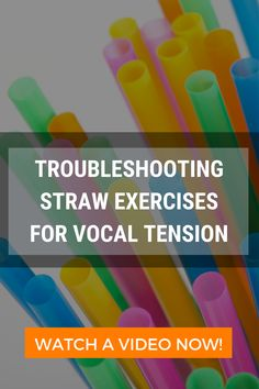 If you experience vocal tension or even pain when speaking, try straw exercises. Watch this video to learn how to release vocal tension with straws. Straws, Health Tips, Exercises, Watch, Learning, Healthy, Videos, Youtube, Clock