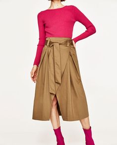 CROSSOVER BELTED SKIRT-NEW IN-WOMAN | ZARA France
