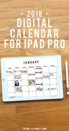 Is an iPad Pro on your holiday wish list this year? If so, you'll want to dive into the world of digital organizers, including my new 2018 iPad Pro Digital Calendar! By using the apple pencil, you can. Ipad Pro Tips, Ipad Hacks, Ipad Pro 12, Goodnotes 4, Planner Writing, Apple Watch Iphone, Affinity Designer, Planner Organization, Apple Ipad
